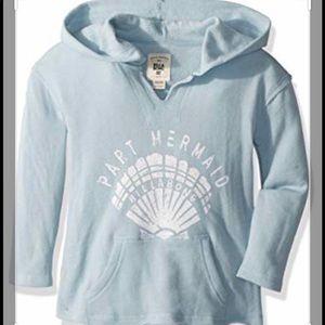 Billabong girls powder blue hoodie extra soft